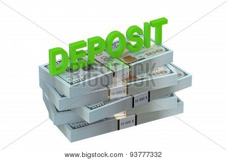 Deposit Concept With Dollars