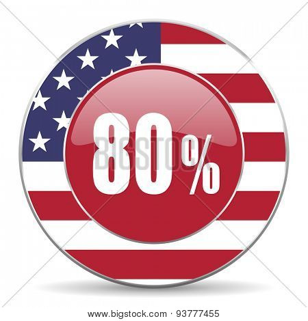 80 percent original american design modern icon for web and mobile app on white background