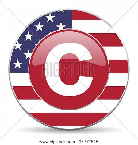 copyright original american design modern icon for web and mobile app on white background