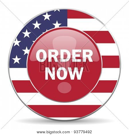 order now american icon original modern design for web and mobile app on white background
