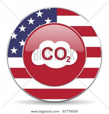 carbon dioxide american icon original modern design for web and mobile app on white background