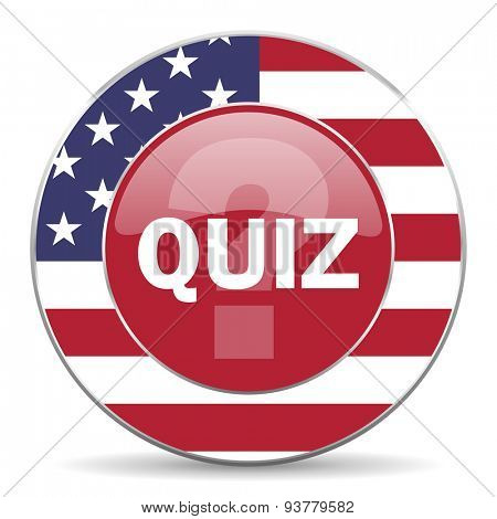 quiz american icon original modern design for web and mobile app on white background