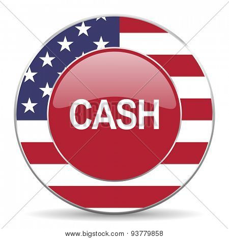 cash american icon  original modern design for web and mobile app on white background