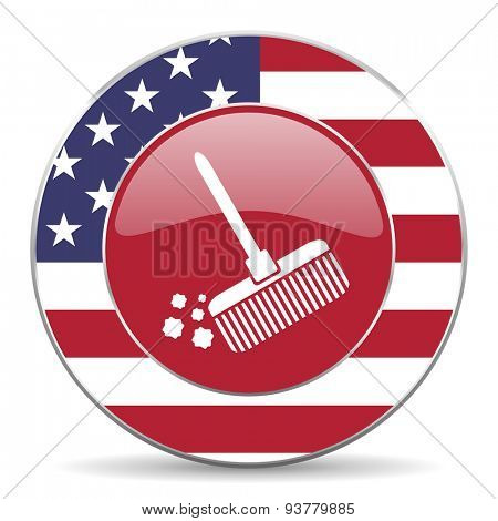 broom american icon original modern design for web and mobile app on white background