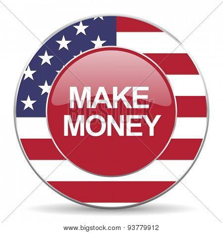 make money american icon original modern design for web and mobile app on white background