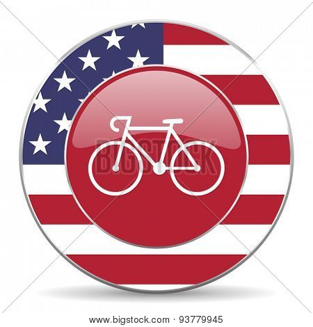 bicycle american icon original modern design for web and mobile app on white background