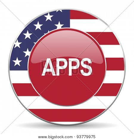 apps american icon original modern design for web and mobile app on white background