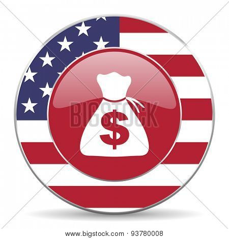 money american icon original modern design for web and mobile app on white background
