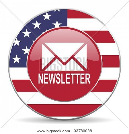 newsletter american icon original modern design for web and mobile app on white background