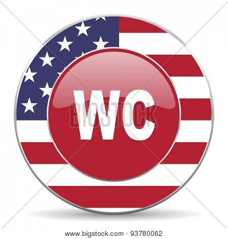 toilet american icon original modern design for web and mobile app on white background