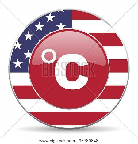 celsius american icon original modern design for web and mobile app on white background
