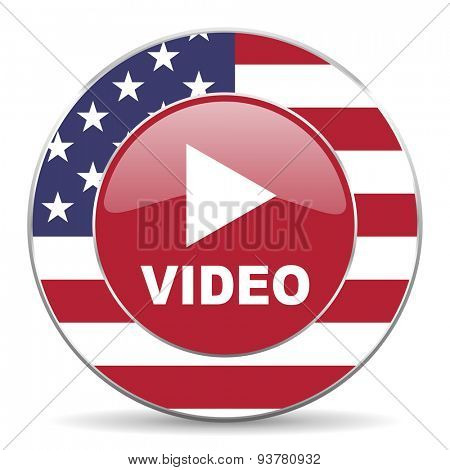 video american icon original modern design for web and mobile app on white background