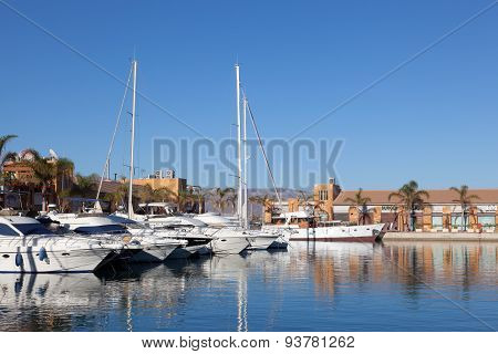 Marina In Puerto De Mazarron, Spain