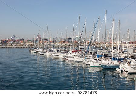 Marina In Valencia, Spain