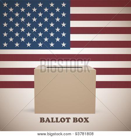 American elections ballot box
