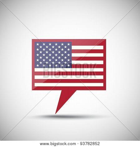 Usa American Flag Bubble