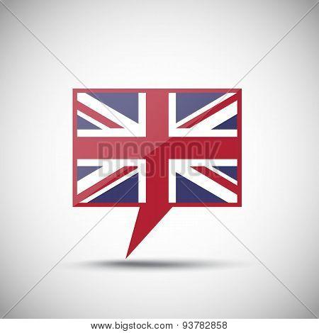 English Flag Speech Bubble