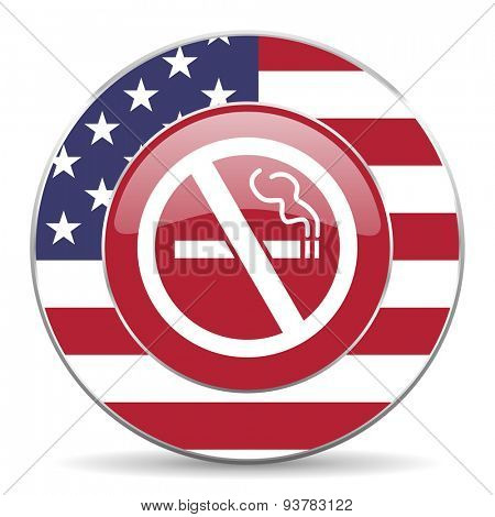 no smoking american icon original modern design for web and mobile app on white background