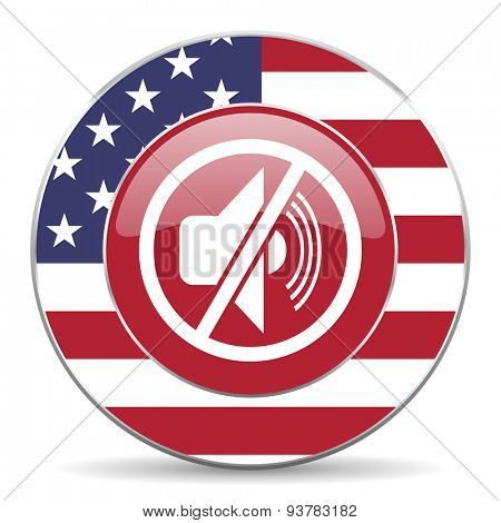 mute american icon original modern design for web and mobile app on white background