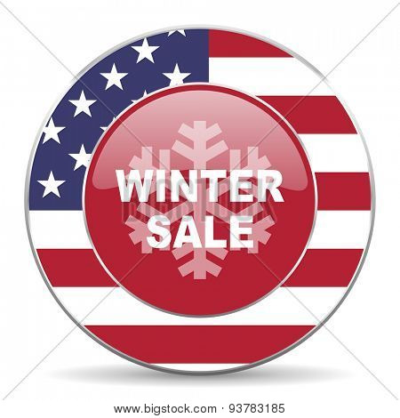 winter sale american icon original modern design for web and mobile app on white background