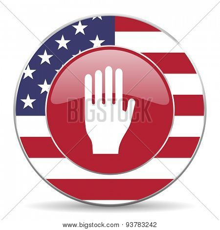 stop american icon original modern design for web and mobile app on white background