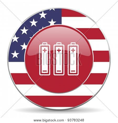 battery american icon original modern design for web and mobile app on white background