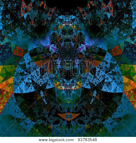 Psychedelic art. Abstract art pattern. Beautiful illustration. Futuristic background.