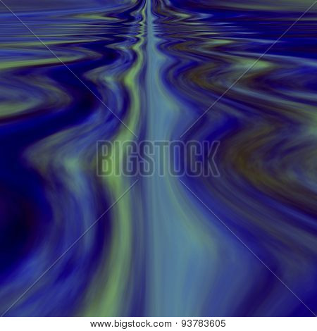 Infinite calm waters. Surreal dream. Abstract background concept. Computer graphic with ripples.