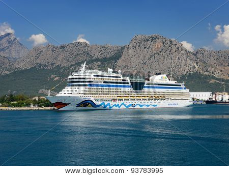 Antalya, Turkey, June 5, 2015. Cruise ship Aida in Port Akdeniz, Antalya