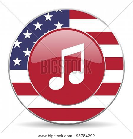 music american icon original modern design for web and mobile app on white background