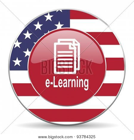 learning american icon original modern design for web and mobile app on white background