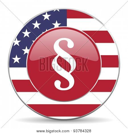 paragraph american icon original modern design for web and mobile app on white background