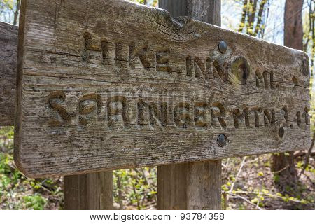 Springer Mountain Distance Sign