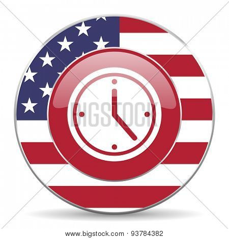 time american icon original modern design for web and mobile app on white background