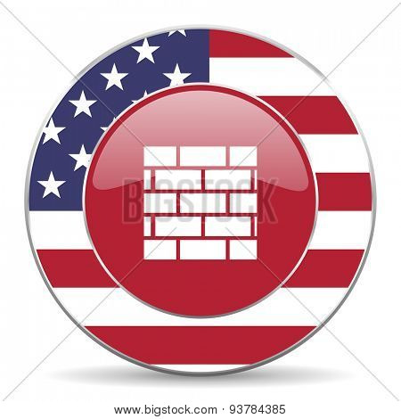 firewall american icon original modern design for web and mobile app on white background