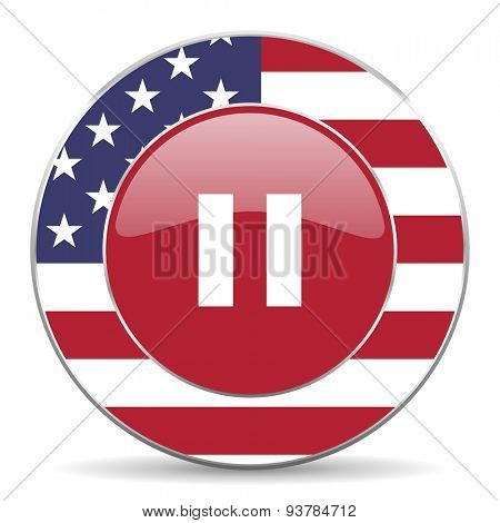 pause american icon original modern design for web and mobile app on white background