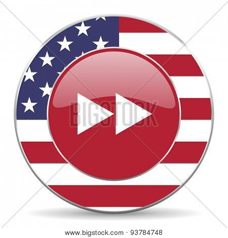 rewind american icon original modern design for web and mobile app on white background