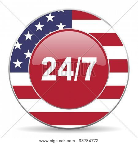 24/7 american icon original modern design for web and mobile app on white background