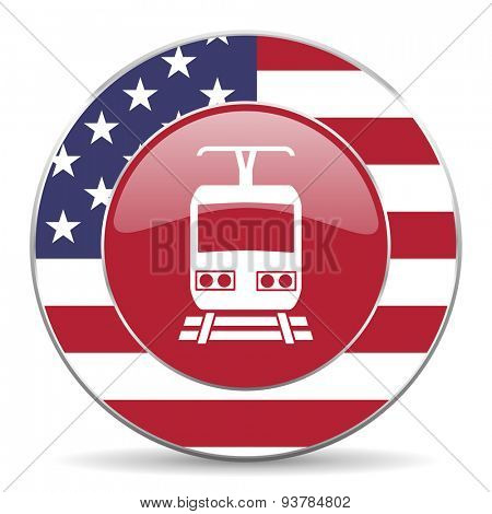 train american icon original modern design for web and mobile app on white background