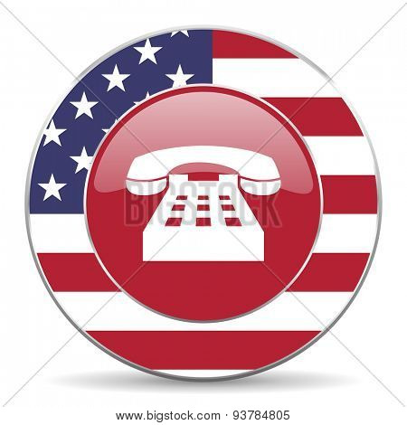 phone american icon original modern design for web and mobile app on white background