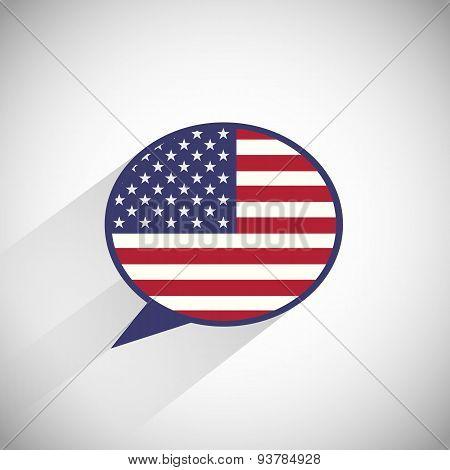 Usa flag speech bubble