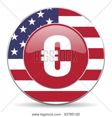 euro american icon original modern design for web and mobile app on white background