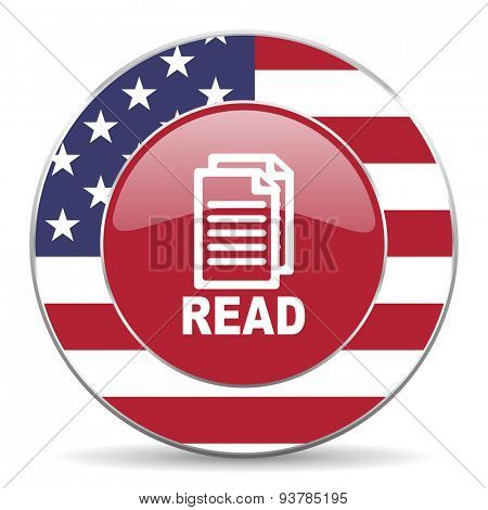 read american icon original modern design for web and mobile app on white background