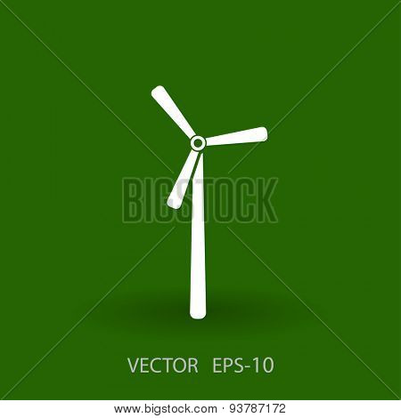 Flat a windmill icon