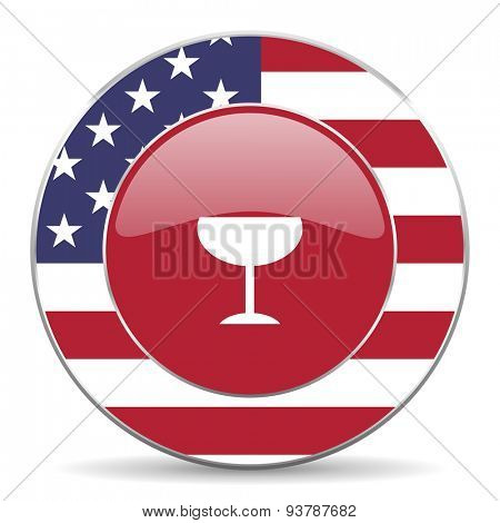alcohol  american icon original modern design for web and mobile app on white background