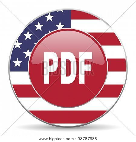 pdf american icon original modern design for web and mobile app on white background
