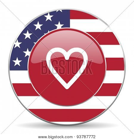 heart american icon original modern design for web and mobile app on white background