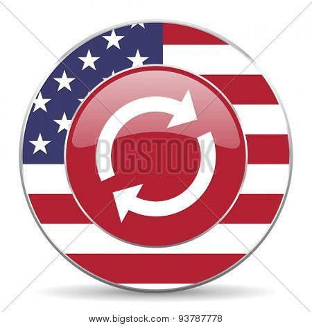 reload american icon original modern design for web and mobile app on white background