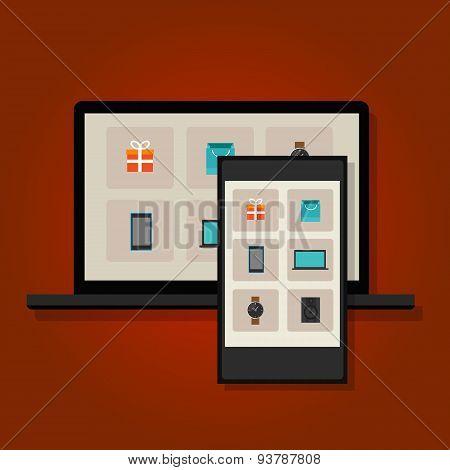 ecommerce online commerce retail multi shopping