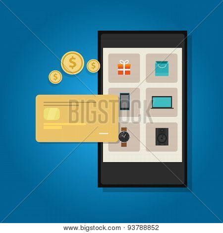 mobile commerce online credit card smart phone